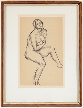 ANDRÉ LHOTE, Drawing in pencil, signed.
