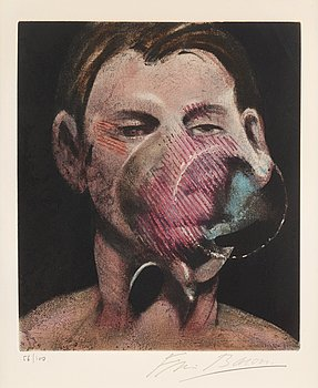 "3. Francis Bacon, ""Portrait de Peter Beard"", from: ""La mysticité charnelle de René Crevel""."