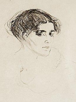 """44. Edvard Munch, """"Woman's Head"""" (Kvinnehode/Frauenkopf)."""