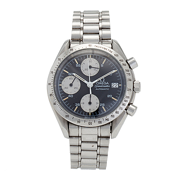 """OMEGA, Speedmaster, Date, """"Tachymetre"""", armbandsur, 38 mm, kronograf."""