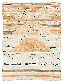 109. A PAINTED TEXTILE, a semi-antique Chinese, 202 x 150,5 cm.