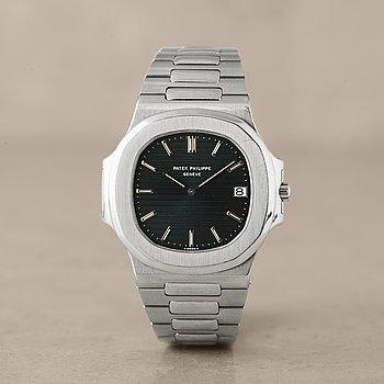 "128. PATEK PHILIPPE, Genève, Nautilus, ""Jumbo"", armbandsur, 42 mm, ""Type 1 dial"","