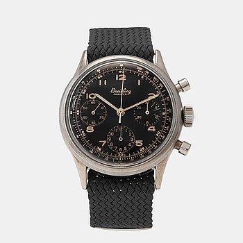 961. BREITLING, Premier, chronograph, wristwatch, 37,5 mm,