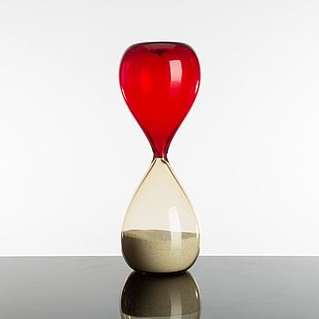 A PAOLO VENINI hourglass of glass, Venini, Murano.