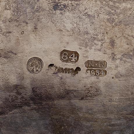 SockerskÅl medlock, silver, st:petersburg 1834 carl gustaf savary, vikt 572 g