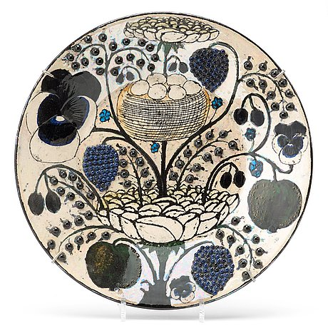 Birger kaipiainen, a birger kaipiainen ceramic dish, arabia, finland.