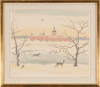 EINAR JOLIN, EINAR JOLIN, lithograph in colours, signed Einar Jolin and numbered 32/250 with pencil.