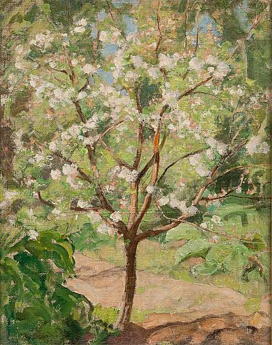 Pekka halonen, blommande ÄppeltrÄd