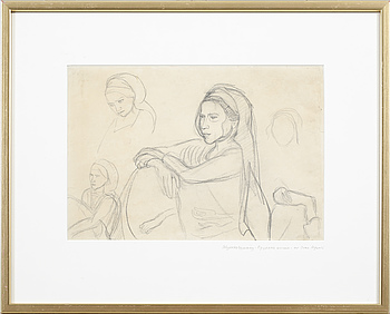 IVAN AGUÉLI, a pencil drawing, not signed.