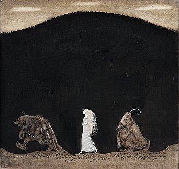"""650. John Bauer, """"Bianca Maria och trollen""""."""