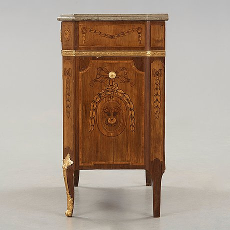A gustavian commode signed by jonas hulsten, master in stockholm 1773-1794.