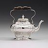 A swedish mid 18th century  silver tea-pot, mark of petter lund, stockholm 1750.