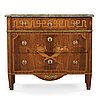 A gustavian late 18th century commode by g foltiern, not signed.