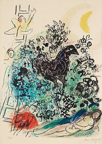 """Marc chagall, """"songe d'un amoureux""""."""
