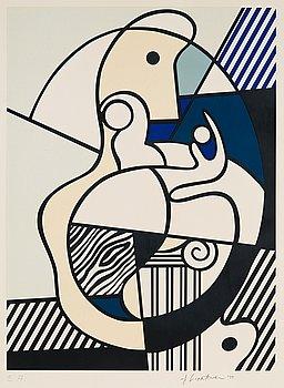 """60. Roy Lichtenstein, """"Homage to Max Ernst"""", ur: """"Bonjour Max Ernst""""."""