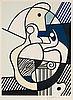 """Roy lichtenstein, """"homage to max ernst"""", from: """"bonjour max ernst""""."""