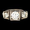 A ring, brilliant cut diamonds, 18k white gold. bror erik ahlfors, helsinki 1966