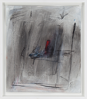 HARALD LYTH, mixed media on paper. Signed.