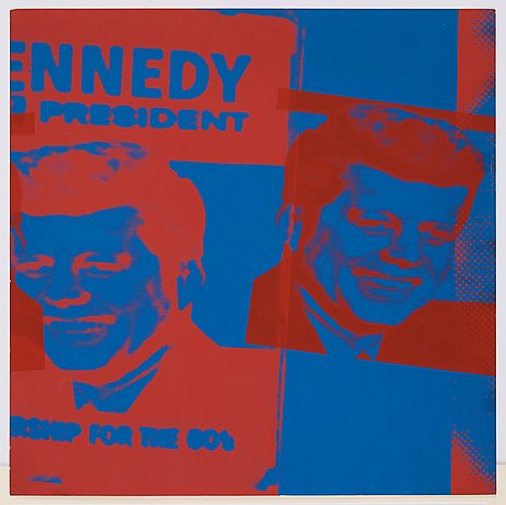 "Andy warhol, plate xi, john f. kennedy, from: ""flash - november 22, 1963""."
