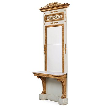 513. A late Gustavian early 19th century mirror panel.