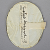 Anders gustaf andersson, miniature, signed and dated 1807. body colour on bone.