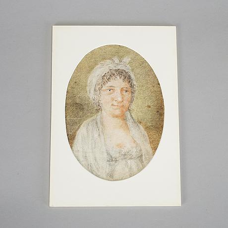 OkÄnd konstnÄr omkring 1800 , chalk drawing.