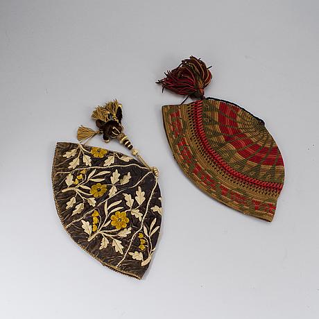 Two night caps 19th century.