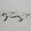 A pair of silver spurs by carl gustaf blomborg in stockholm(active 1812-1841). total weight c. 120 gram.