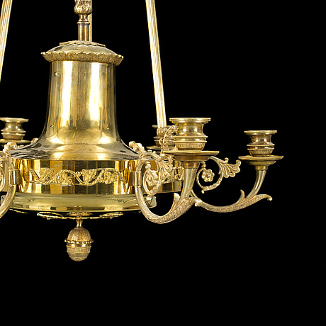 A gilded empire ceiling light france first half of the 19th century.