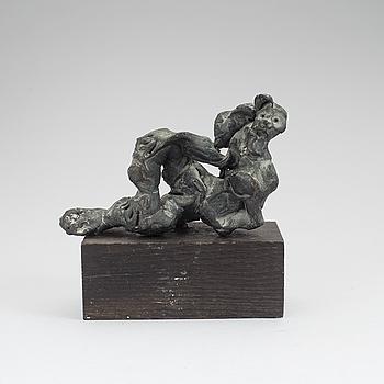 CLAES HAKE, skulptur, brons. Signerad.