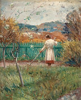 642. Greta Gerell, Woman in the garden.
