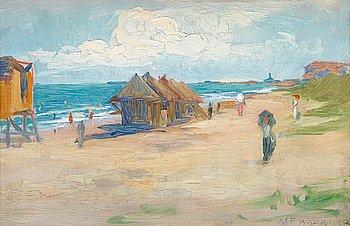 647. Alf Wallander, From the beach.