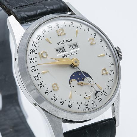 Vulcain, efemerid, armbandsur, 34 mm,