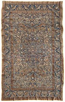 452. MATTA. Semiantik silke Keshan Souf (relief). 210 x 131,5 cm (samt en cm slätväv på varje kortsida).