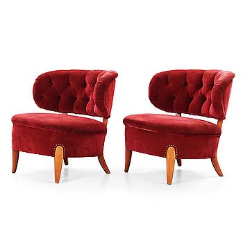 A pair of Otto Schulz 'Schulz' easy chairs, Jio Möbler, Sweden.
