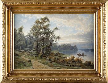 OIDENTIFIERAD KONSTNÄR, olja på duk, signerad Ch. R. Leslie, daterad 1858.