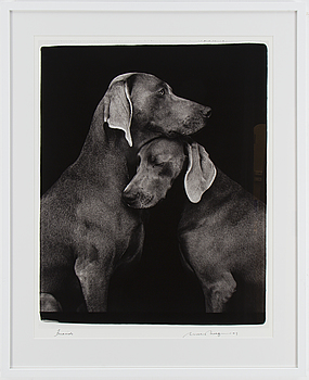 "WILLIAM WEGMAN, fotografi, ""Friends"", signerat."