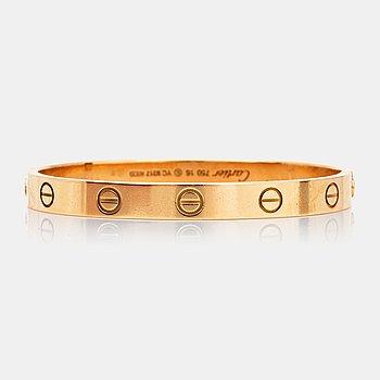 """1066. Cartier """"Love bracelet"""" med tillhörande skruvmejsel."""