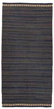 """835. ÖVERKAST/DRAPERI OCH KUDDAR, 3 ST. """"Blå Duchatelltäcket"""", två """"Hjortkudden"""" och en kudde med geometriska mönster. Rölakan. 278 x 134,5, 60 x 63,5, 59,5 x 67,5 respektive 57,5 x 66,5 cm. Duchatelltäcket signerat MMF (Märta Måås-Fjetterström)."""