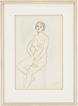 EINAR JOLIN, EINAR JOLIN, a watercolor painting, signed and dated 1932.