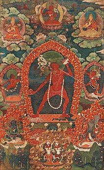 13. A Tibetan thangka of Vajrayogini, 19th Century.