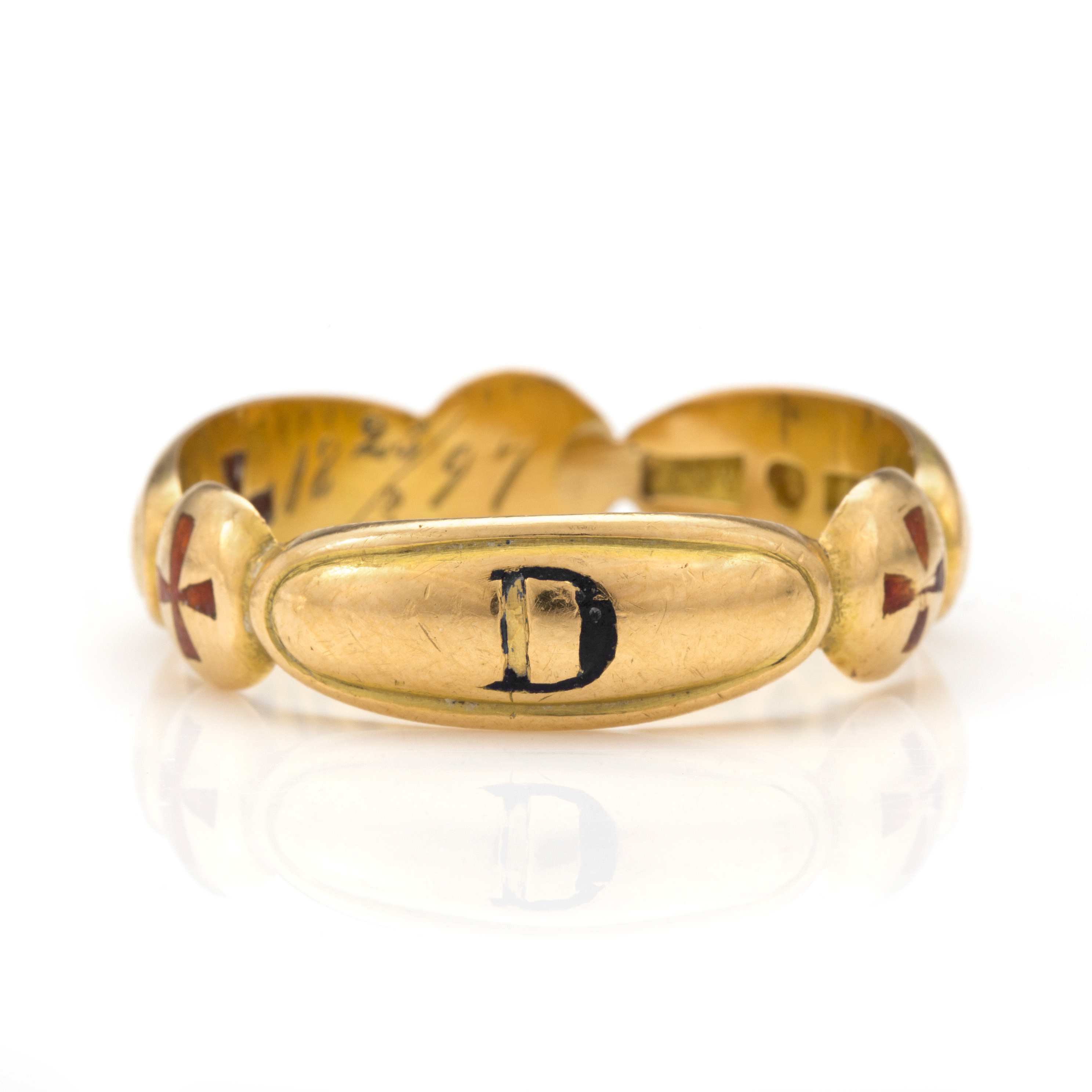 An 18K gold Masonic ring  - Bukowskis