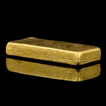 A 23K gold ingot, 1003 g, Ugdo essayeur fondeur.