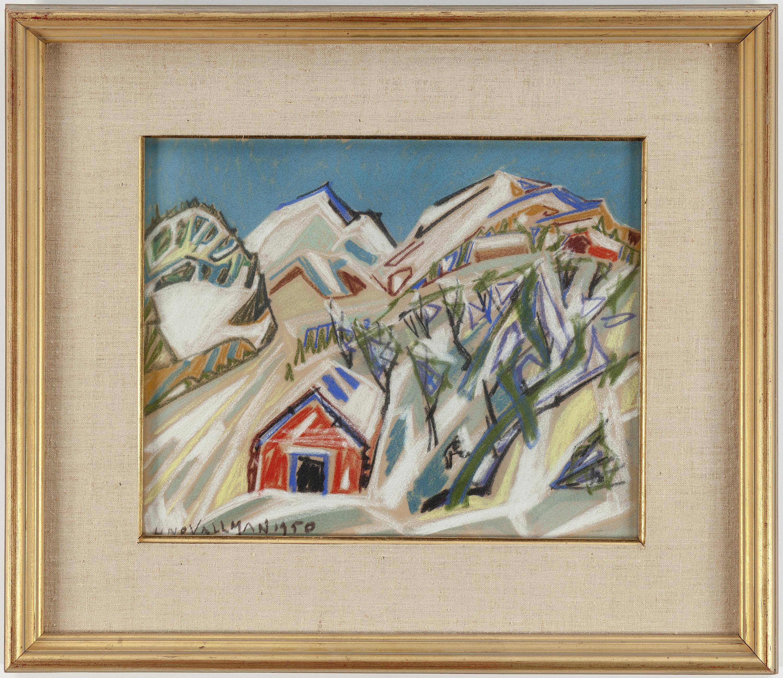 Auktionstipset   uno vallman pastell, signerad och daterad 1950.