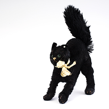 A black cat by Steiff Germany c. 1930.