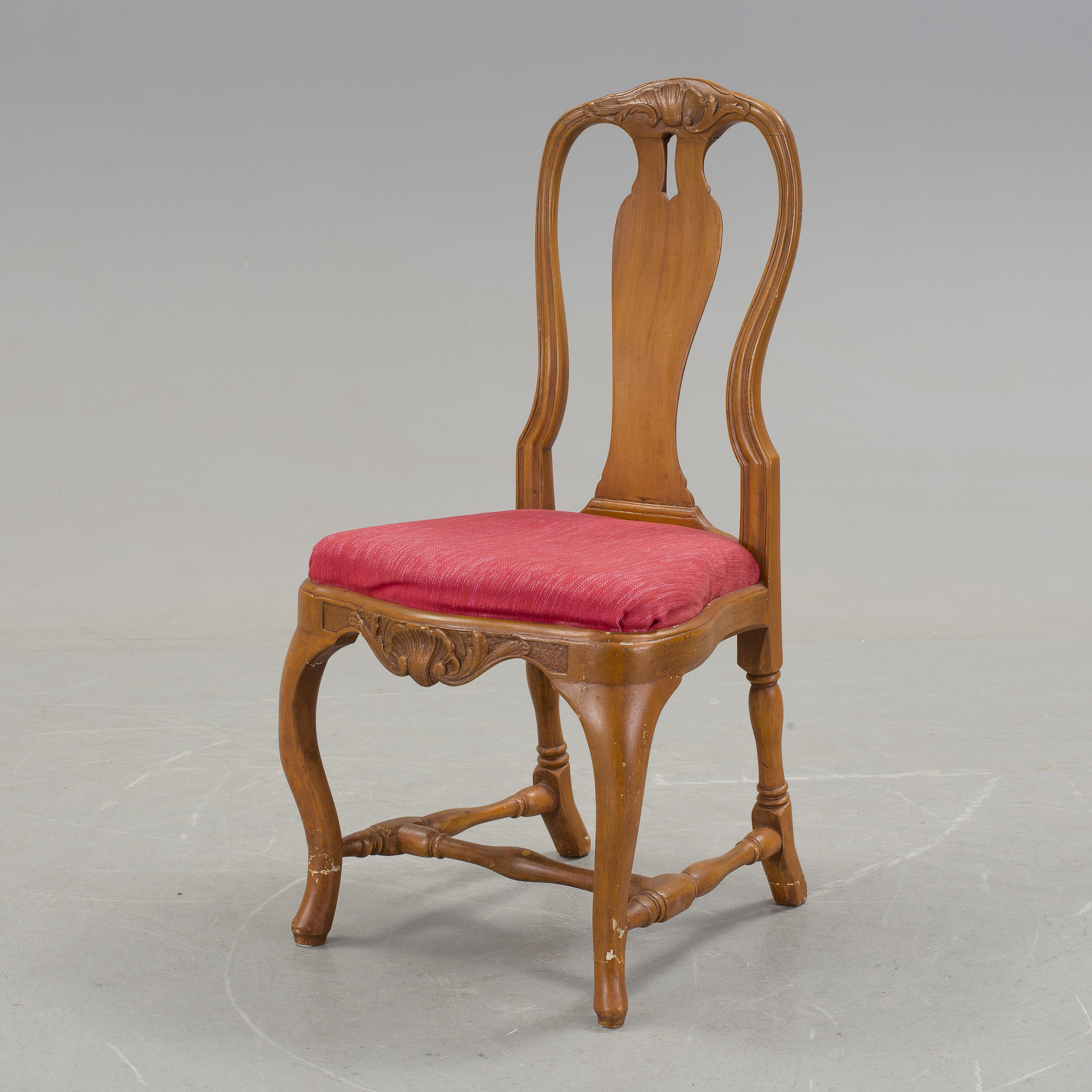 ROKOKO A rococo chair from Stockholm ca 1760 70 Bukowskis