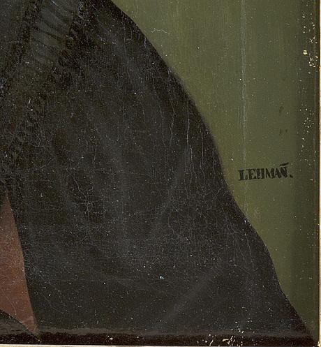 Carl peter lehmann, oljemålning på duk. signerad.
