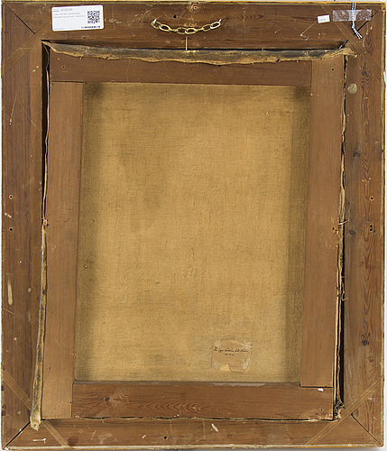 Carl peter lehmann, oil painting on canvas. signed.