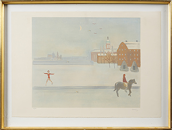 EINAR JOLIN, EINAR JOLIN, litograph in colors, signed and numbered 189/360.