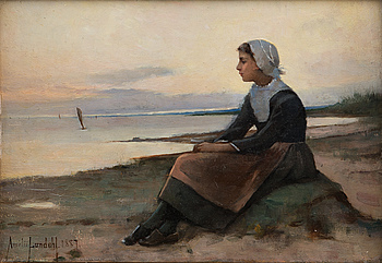 AMELIE LUNDAHL, A GIRL IN BRITTANY.